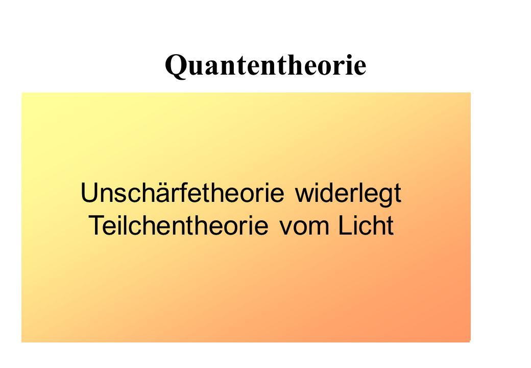 Unschärfetheorie widerlegt Teilchentheorie vom Licht
