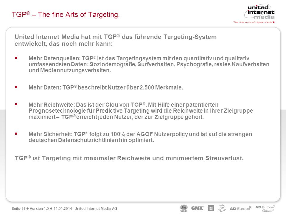 TGP® – The fine Arts of Targeting.