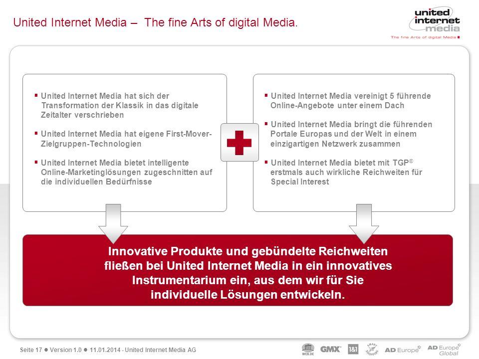 United Internet Media – The fine Arts of digital Media.