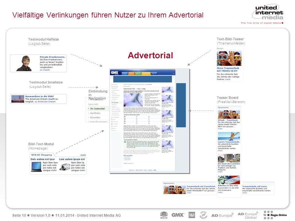 Vielfältige Verlinkungen führen Nutzer zu Ihrem Advertorial
