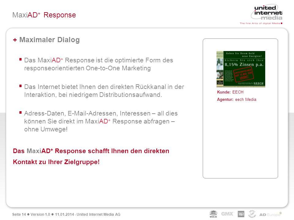 MaxiAD+ Response + Maximaler Dialog