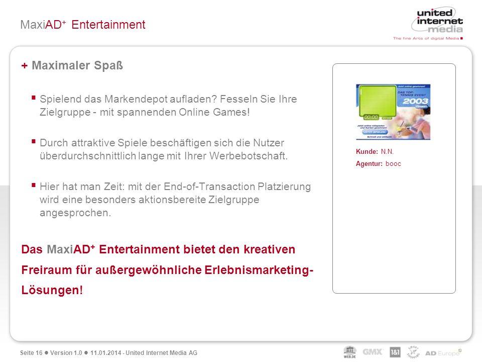 MaxiAD+ Entertainment
