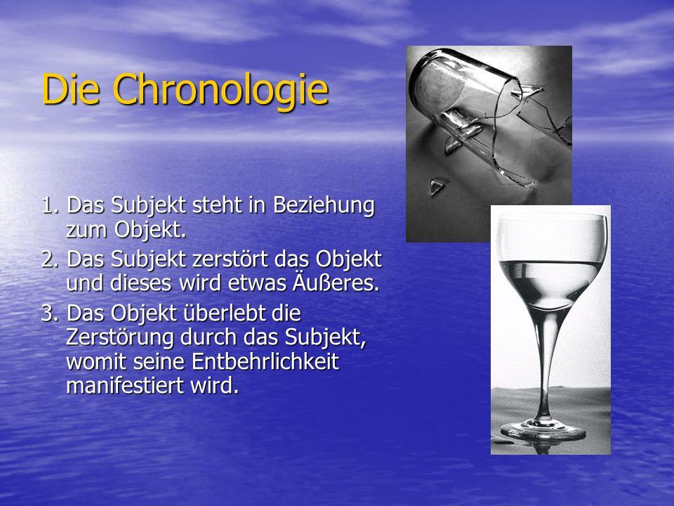 Die Chronologie 1. Das Subjekt steht in Beziehung zum Objekt.