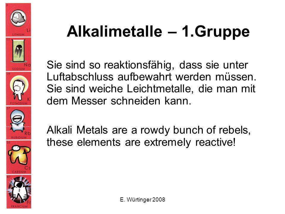 Alkalimetalle – 1.Gruppe