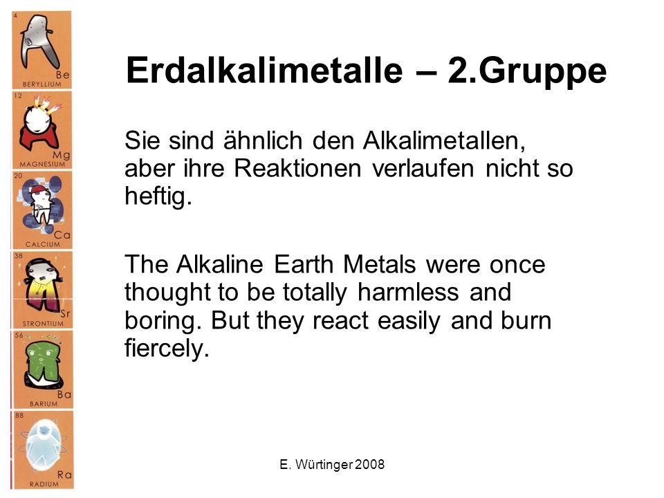 Erdalkalimetalle – 2.Gruppe