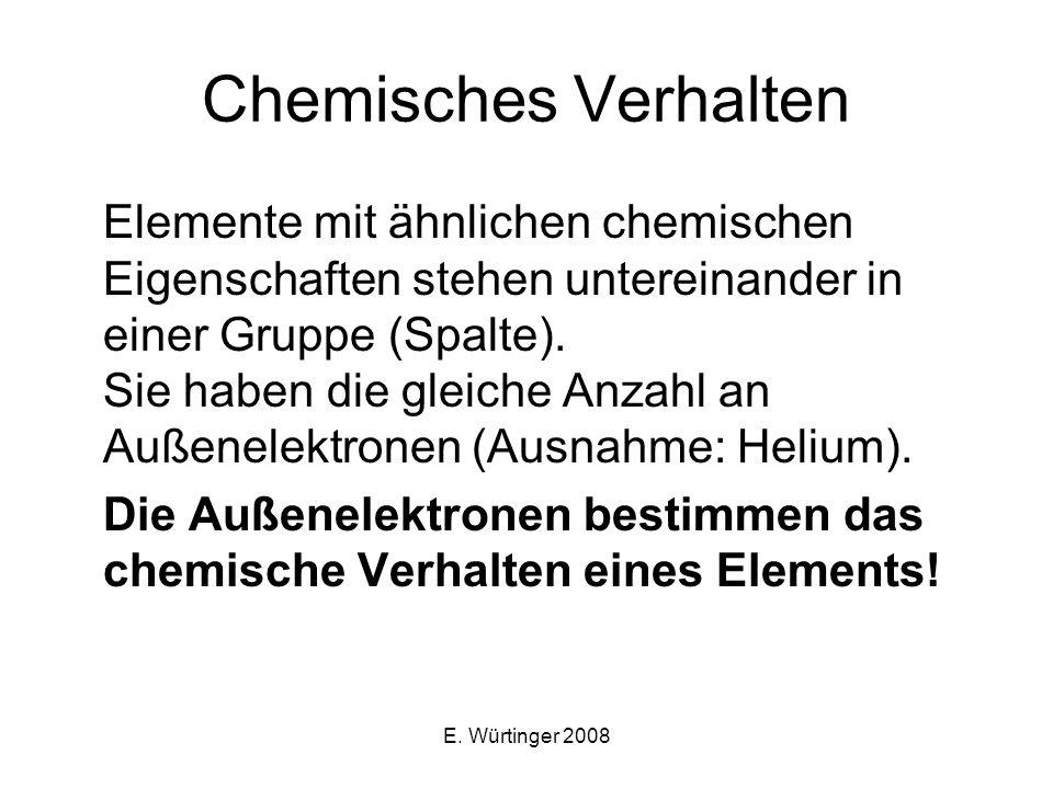 Chemisches Verhalten
