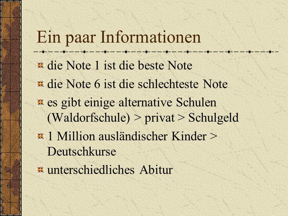Ein paar Informationen
