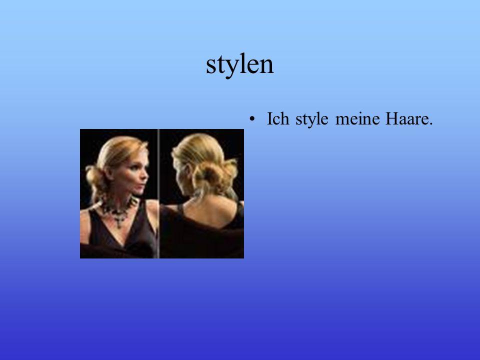 stylen Ich style meine Haare.