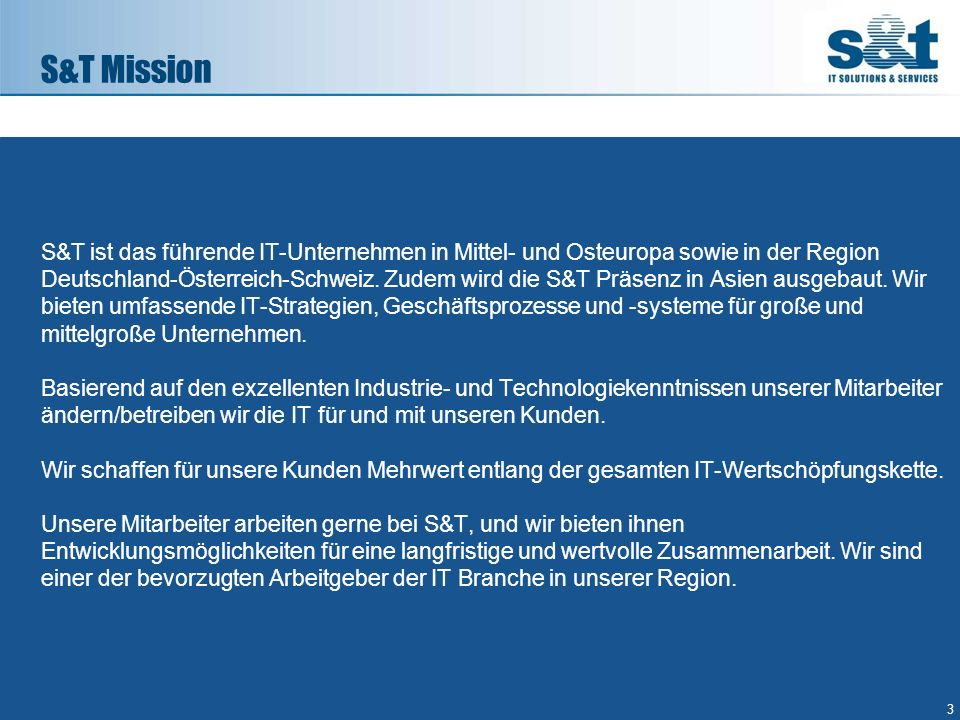 S&T Mission