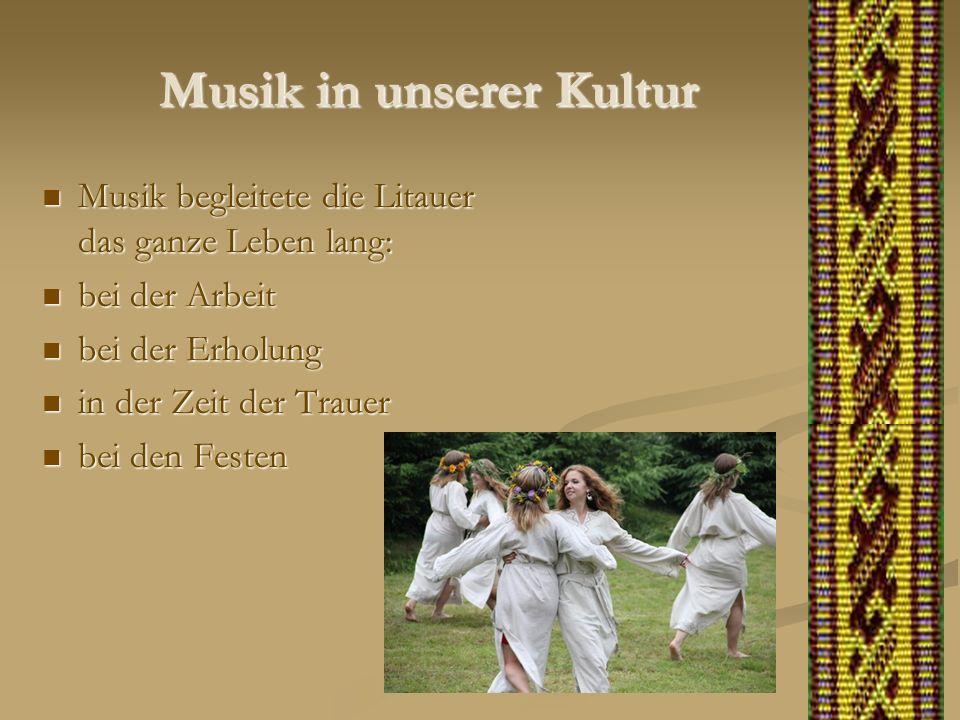 Musik in unserer Kultur