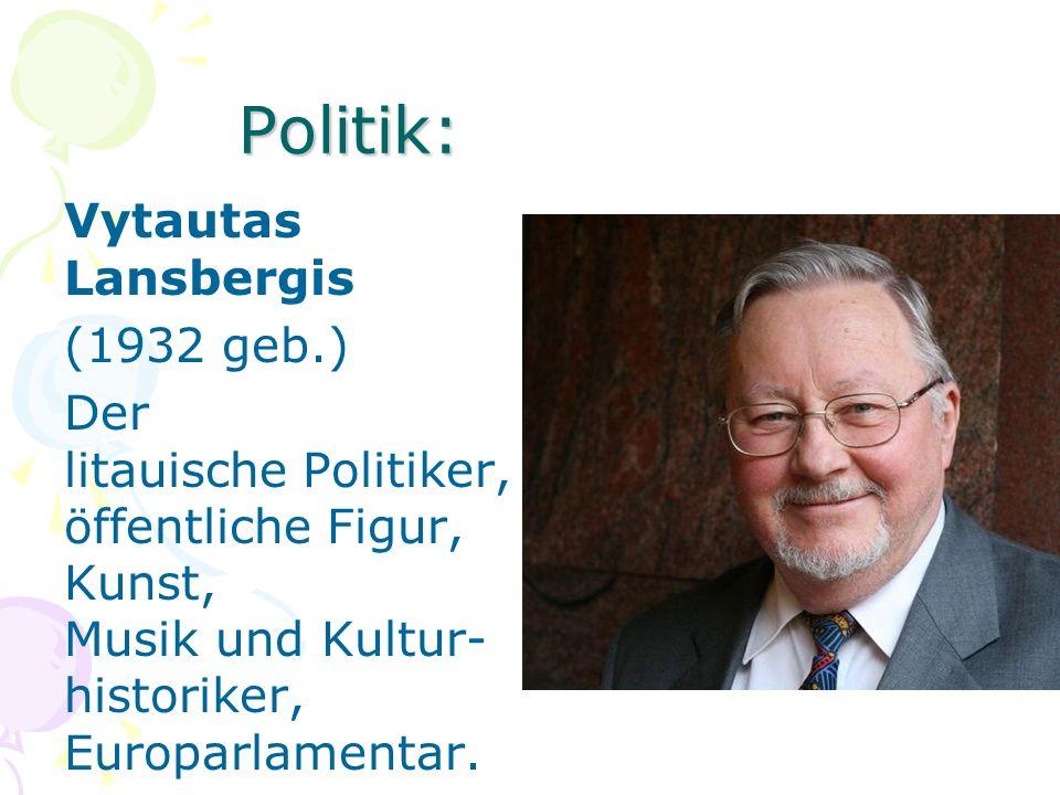 Politik: Vytautas Lansbergis (1932 geb.) Der litauische Politiker, öffentliche Figur, Kunst, Musik und Kultur-historiker, Europarlamentar.