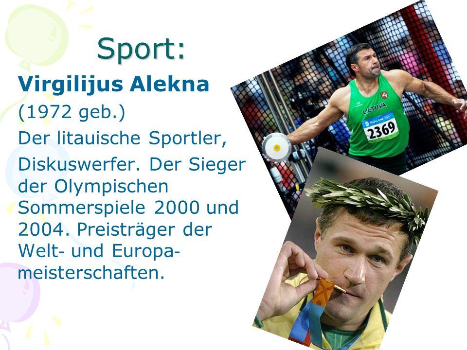Sport: Virgilijus Alekna (1972 geb.) Der litauische Sportler,