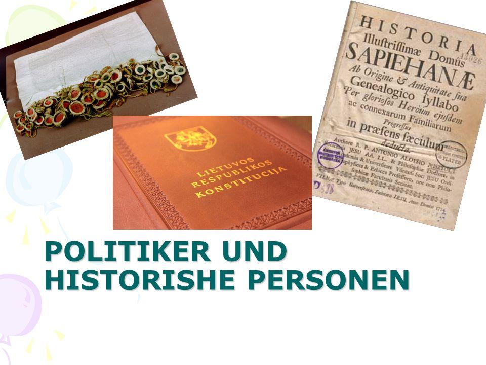 POLITIKER UND HISTORISHE PERSONEN
