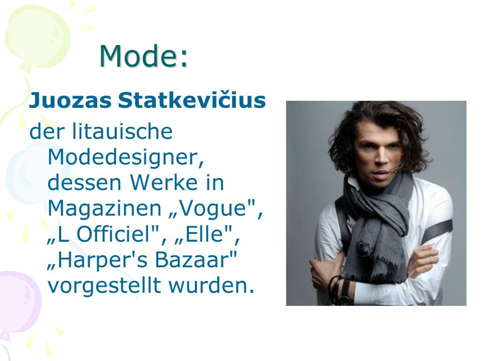 Mode: Juozas Statkevičius