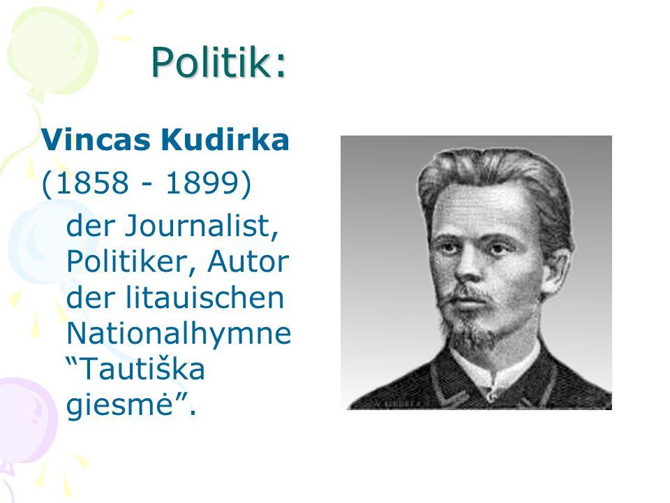 Politik: Vincas Kudirka (1858 - 1899)