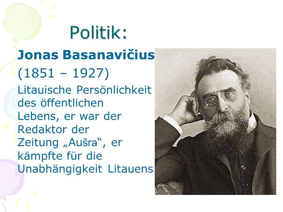 Politik: Jonas Basanavičius (1851 – 1927)
