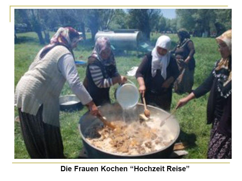 Die Frauen Kochen Hochzeit Reise