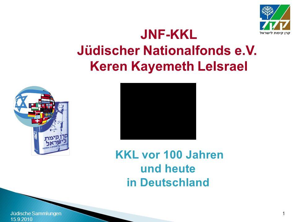 Keren Kayemeth LeIsrael KKL vor 100 Jahren und heute