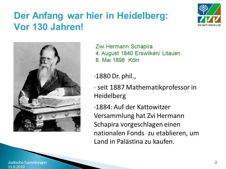 Der Anfang war hier in Heidelberg: Vor 130 Jahren!
