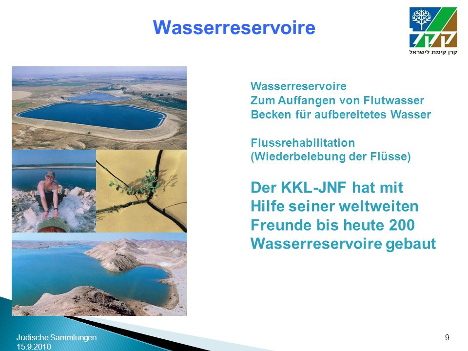 Wasserreservoire Wasserreservoire. Zum Auffangen von Flutwasser. Becken für aufbereitetes Wasser.