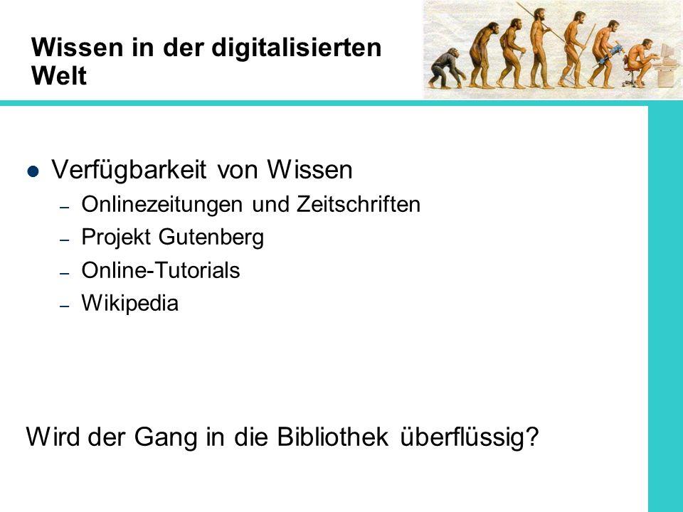 Wissen in der digitalisierten Welt