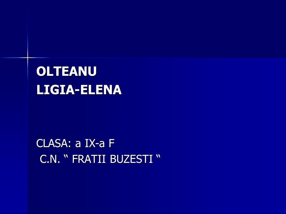 OLTEANU LIGIA-ELENA CLASA: a IX-a F C.N. FRATII BUZESTI