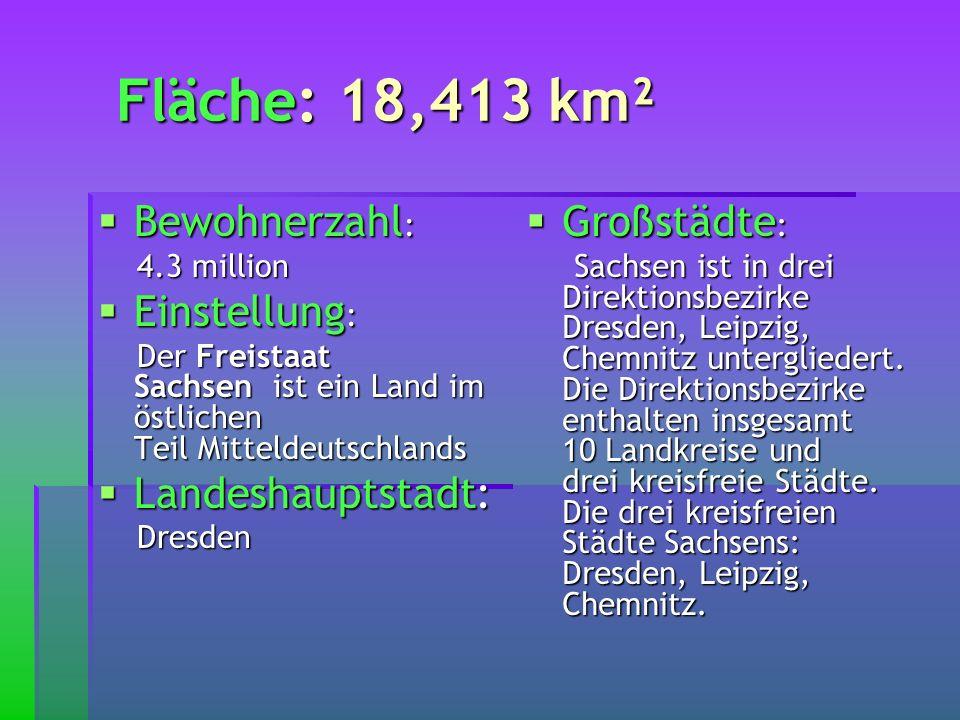 Fläche: 18,413 km² Bewohnerzahl: Einstellung: Landeshauptstadt: