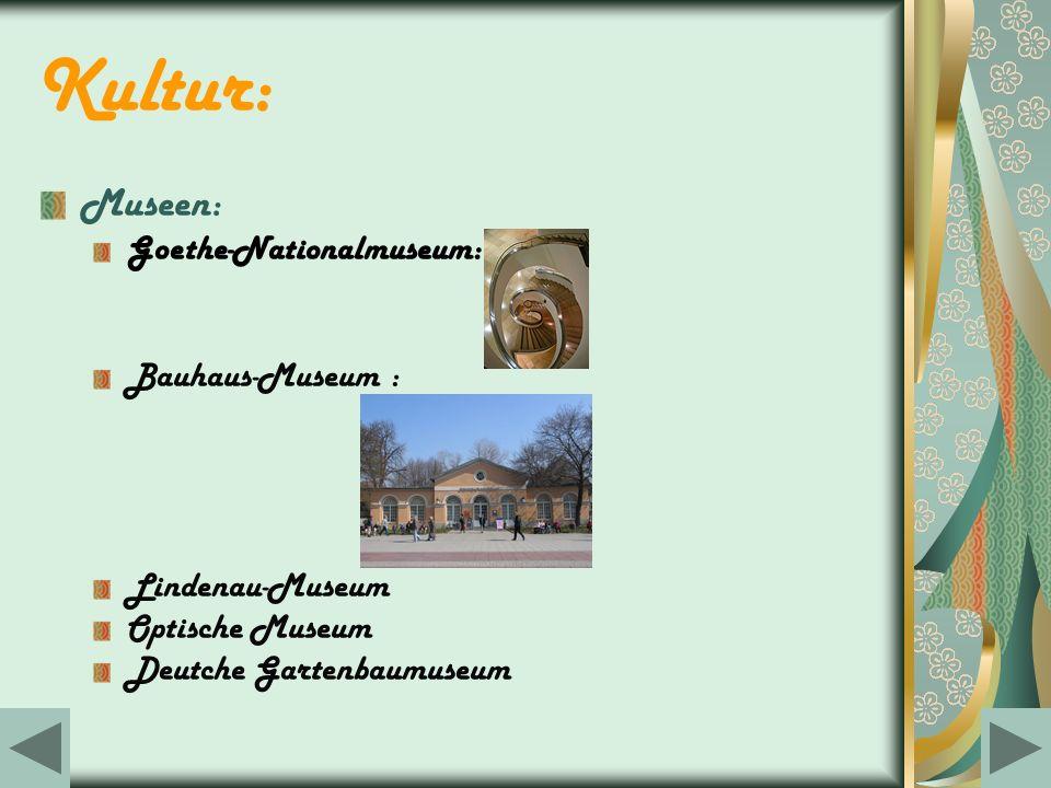 Kultur: Museen: Goethe-Nationalmuseum: Bauhaus-Museum :