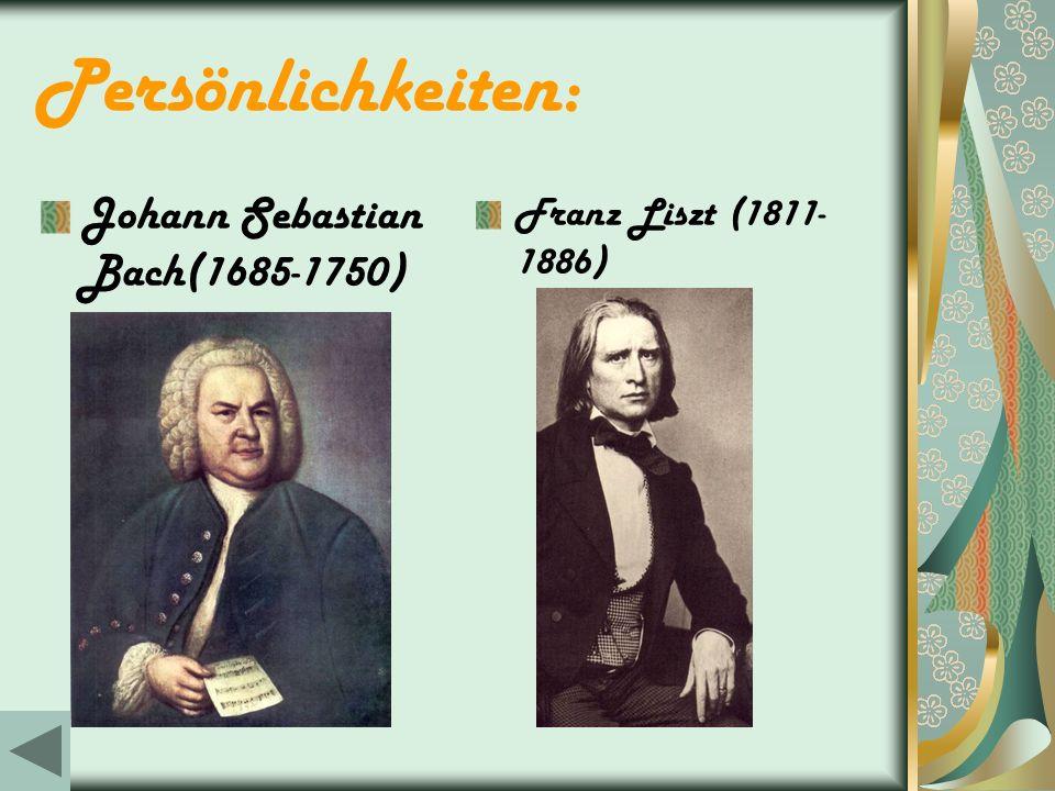 Persönlichkeiten: Johann Sebastian Bach(1685-1750)