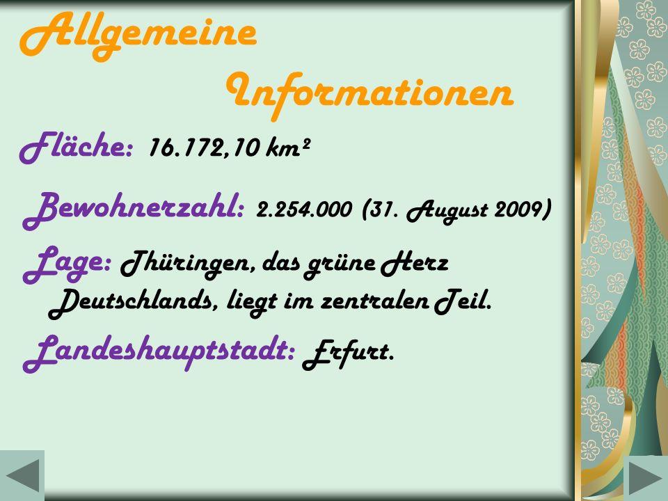 Allgemeine Informationen Fläche: 16.172,10 km²