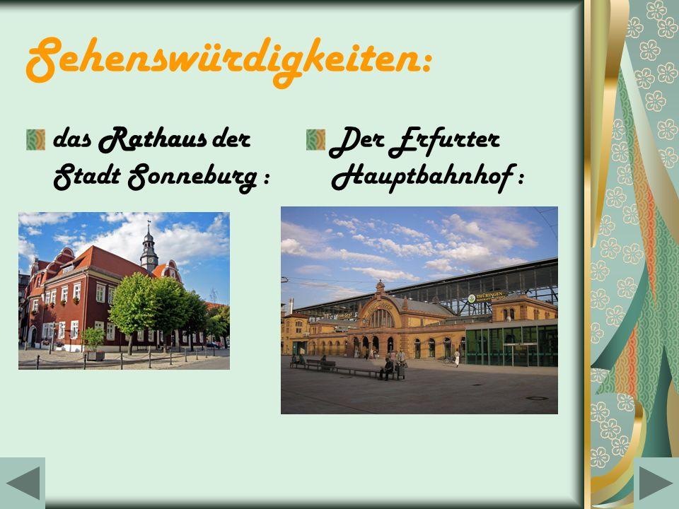 Sehenswürdigkeiten: das Rathaus der Stadt Sonneburg :