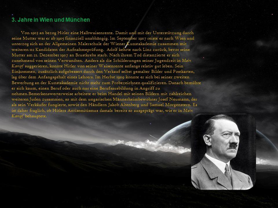 3. Jahre in Wien und München