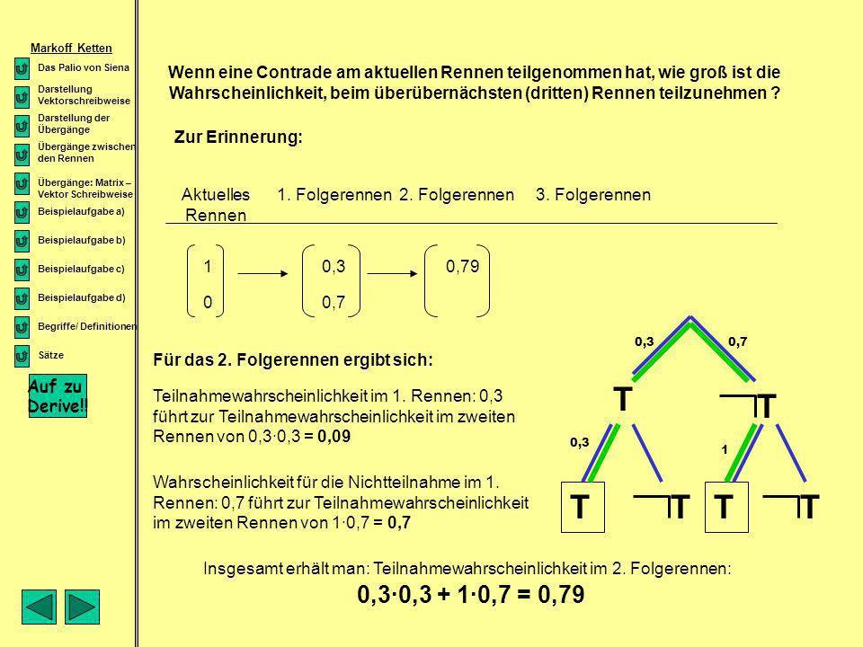 T T T T T T 0,3·0,3 + 1·0,7 = 0,79 Auf zu Derive!!