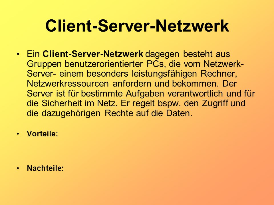 Client-Server-Netzwerk