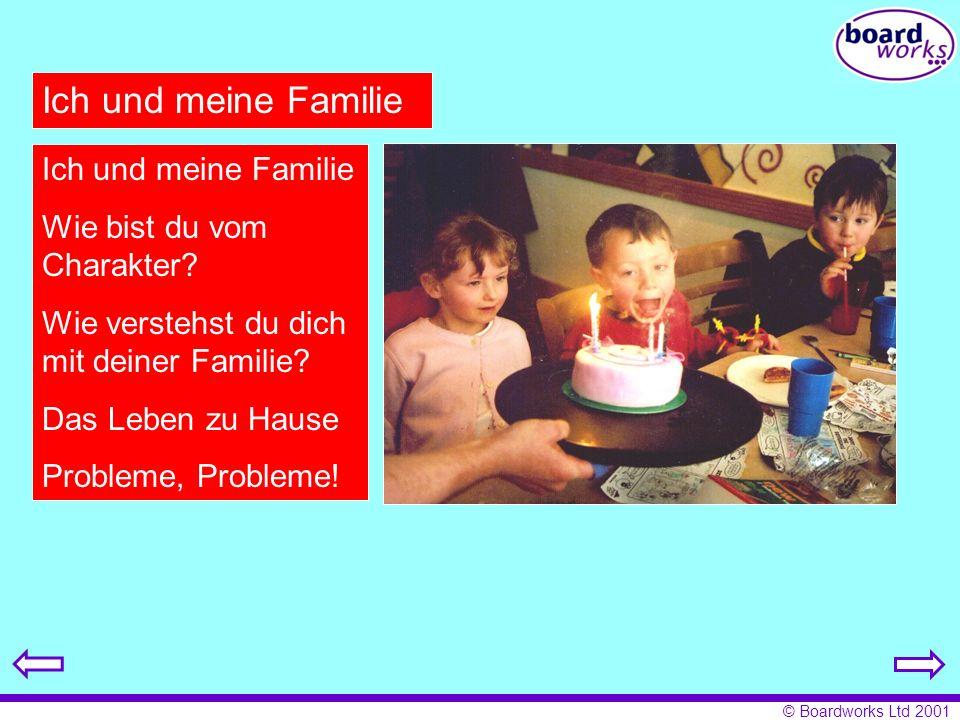 Ich und meine Familie Ich und meine Familie Wie bist du vom Charakter