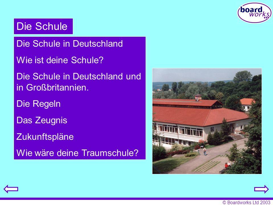 Die Schule Die Schule in Deutschland Wie ist deine Schule