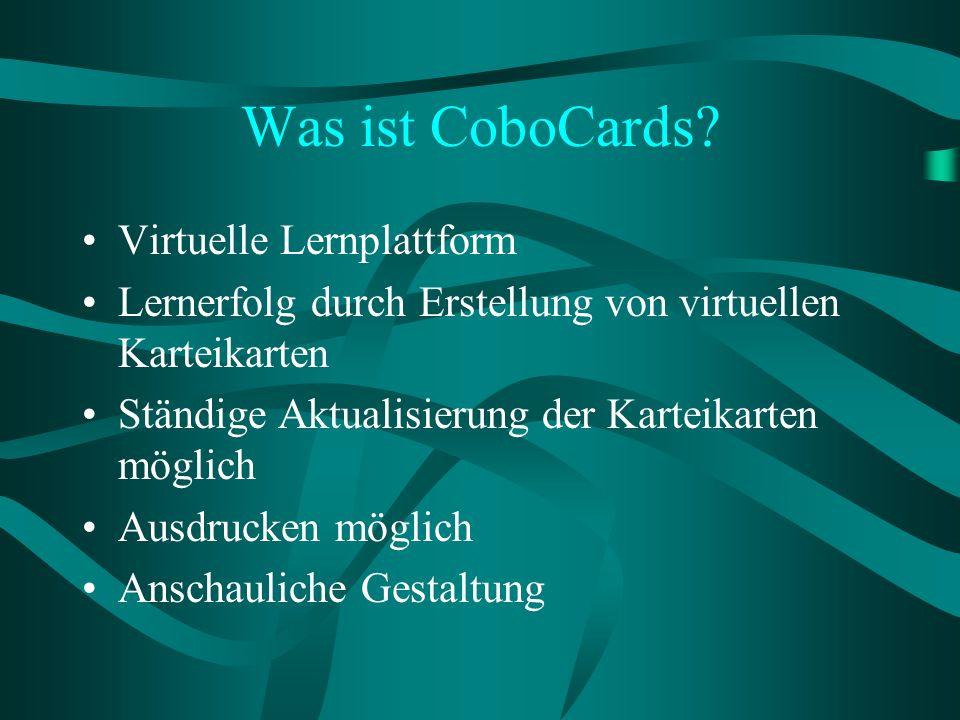 Was ist CoboCards Virtuelle Lernplattform