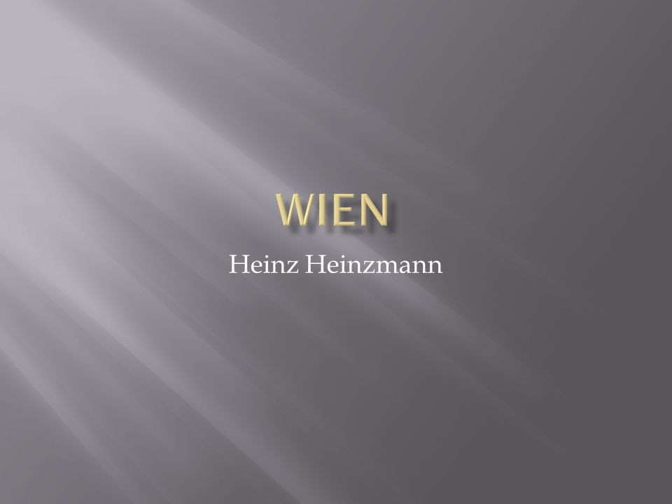 Wien Heinz Heinzmann