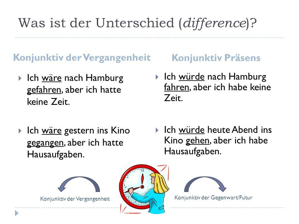 Was ist der Unterschied (difference)