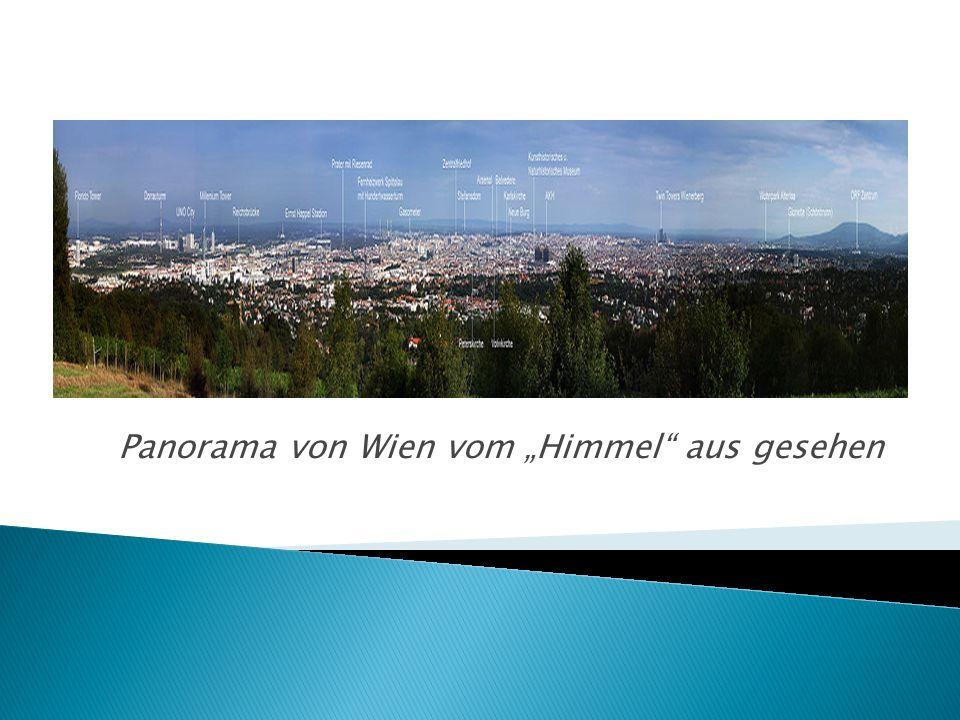 """Panorama von Wien vom """"Himmel aus gesehen"""