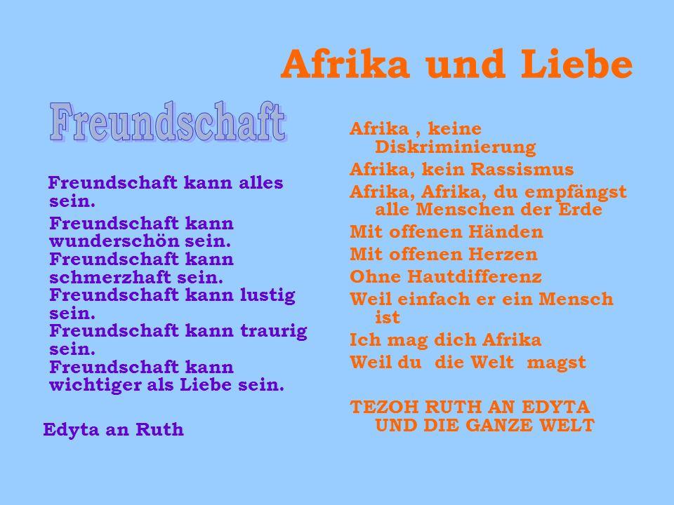 Afrika und Liebe Freundschaft Afrika , keine Diskriminierung