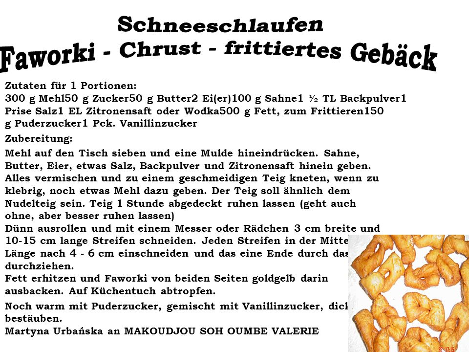 Faworki - Chrust - frittiertes Gebäck