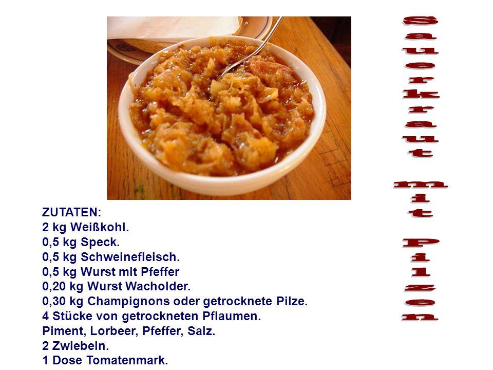 Sauerkraut mit Pilzen