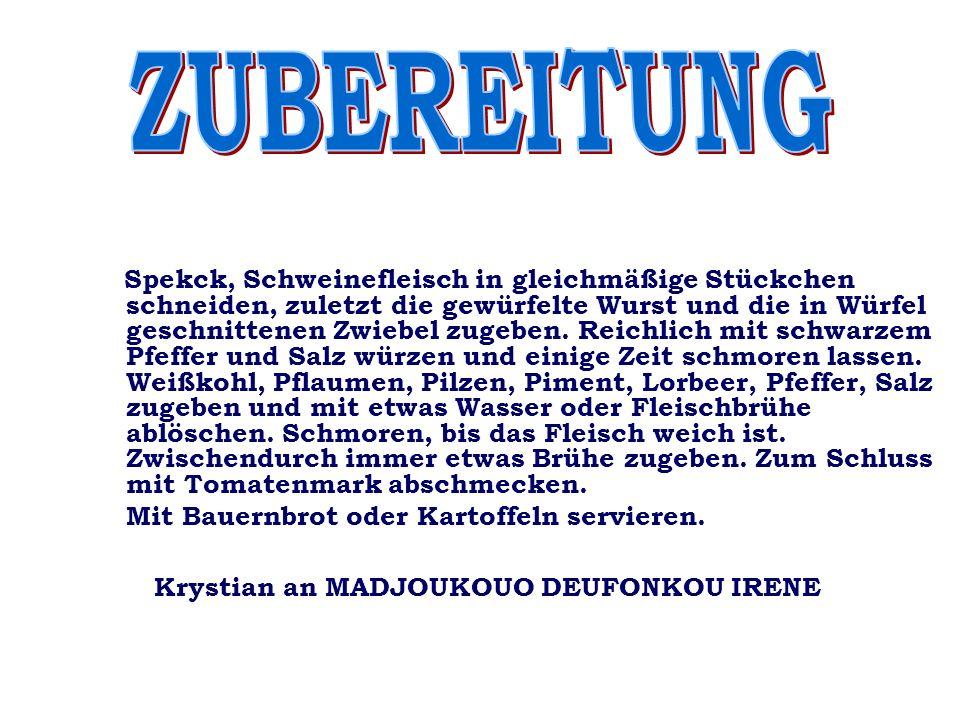 ZUBEREITUNG