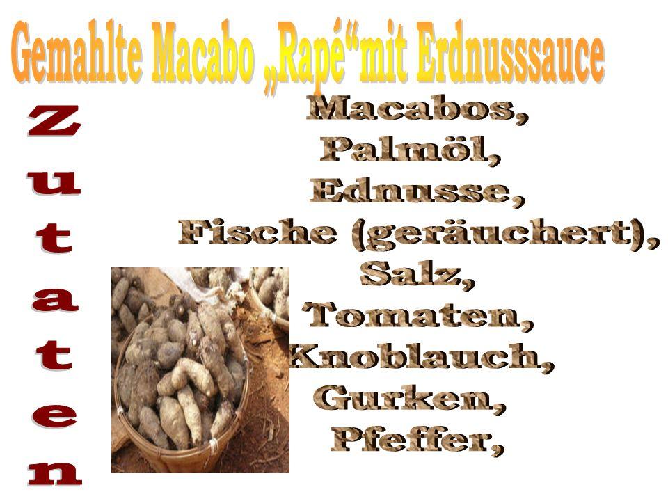 "Gemahlte Macabo ""Rapé mit Erdnusssauce"