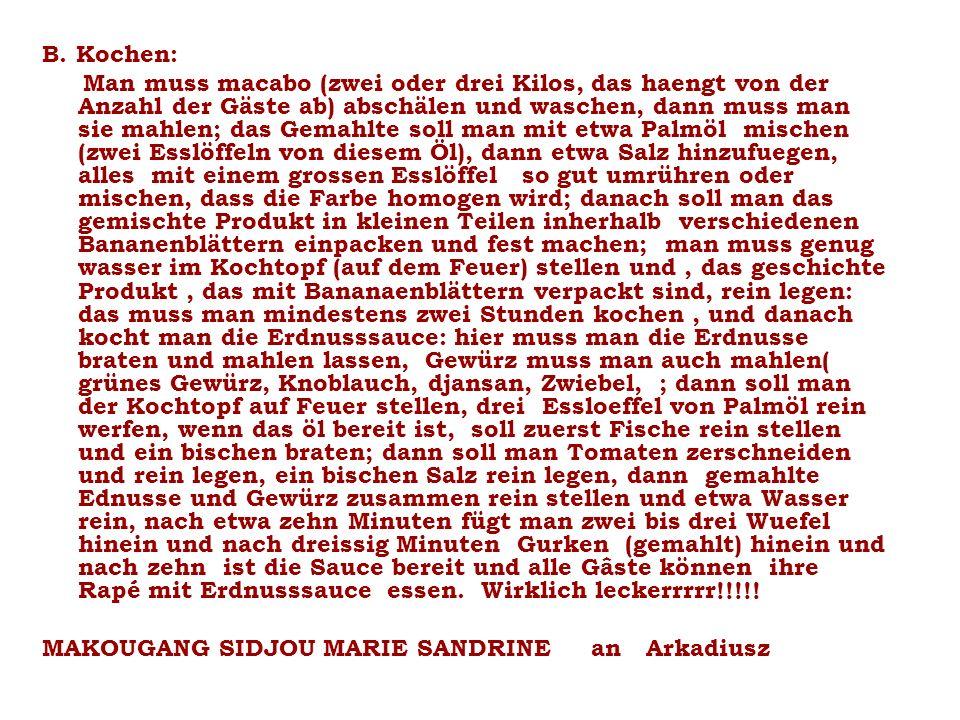 B. Kochen: