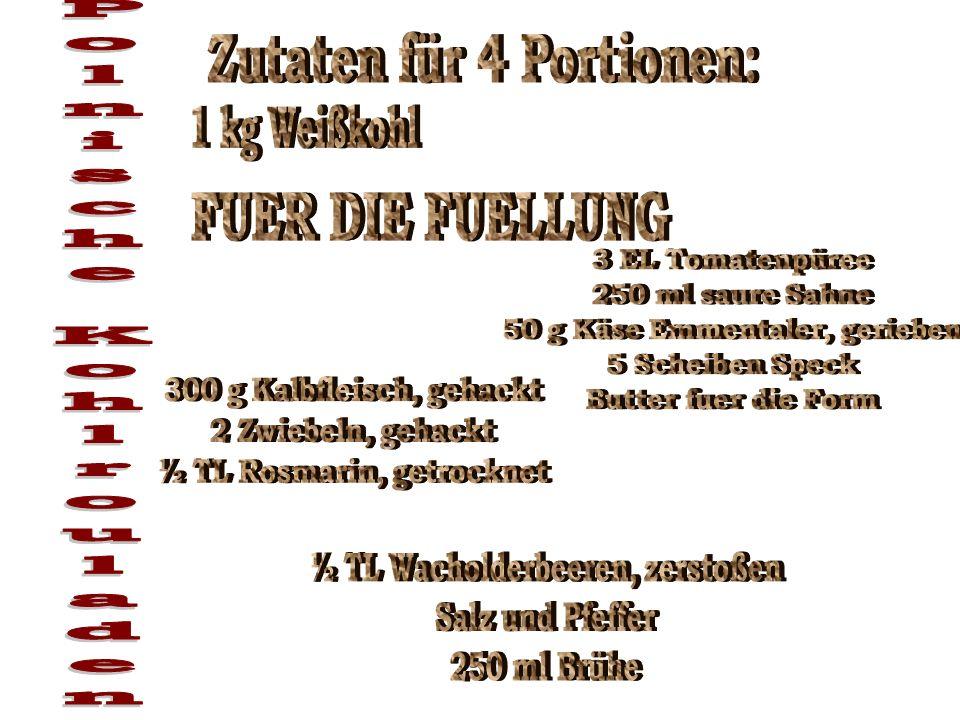 Polnische Kohlrouladen