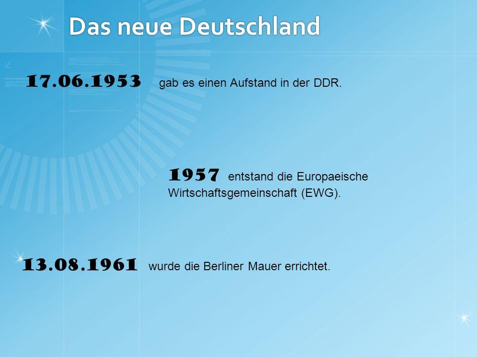 Das neue Deutschland 17.06.1953 gab es einen Aufstand in der DDR.