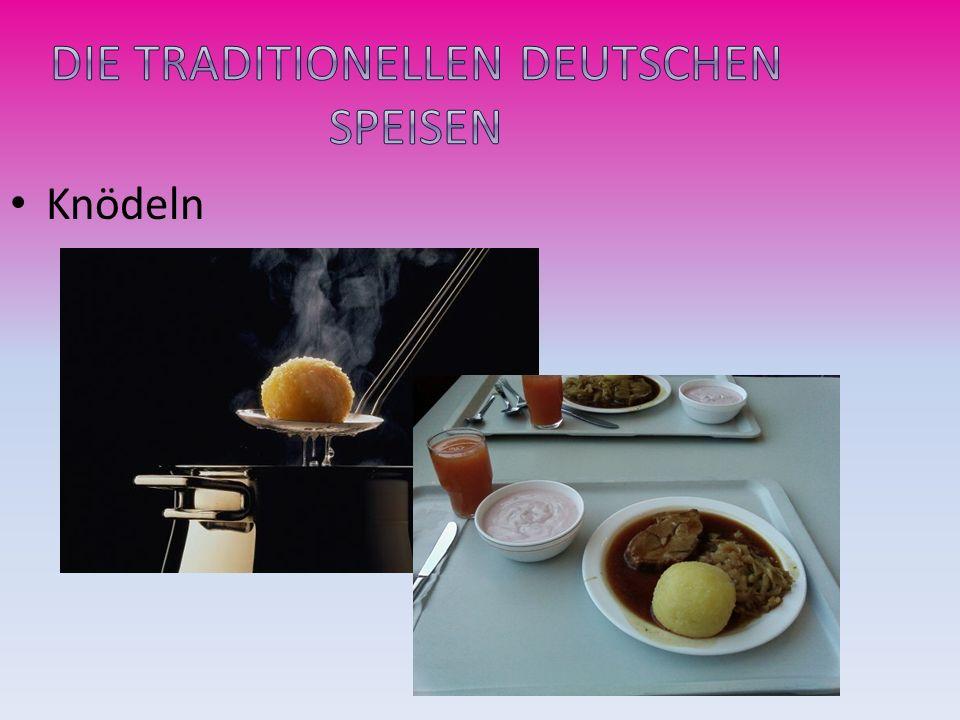 Die traditionellen deutschen Speisen