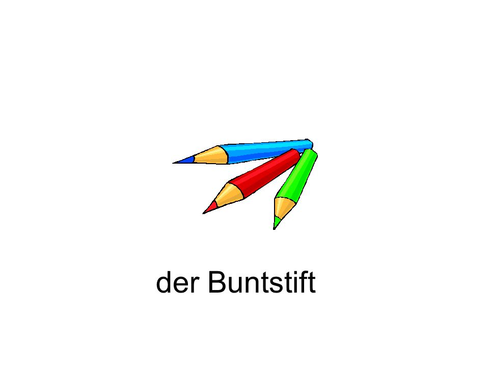 der Buntstift